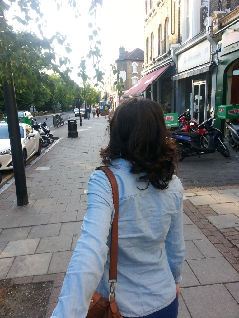 Walking the streets of London with my Beautiful wife!