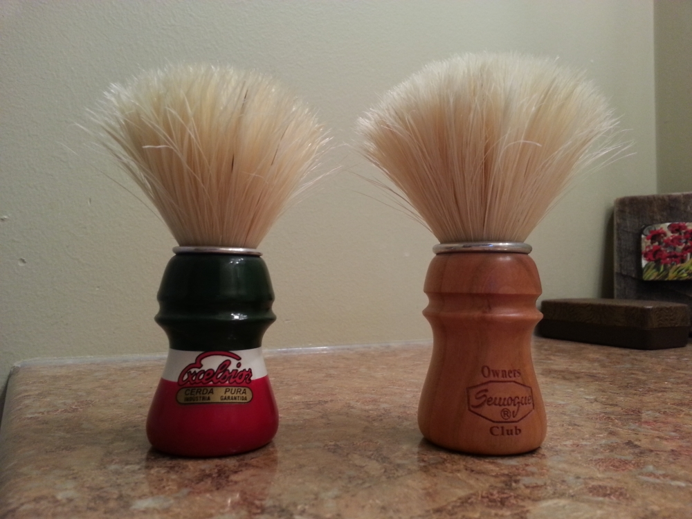 Italian Barber LE on the left, SOC on the right